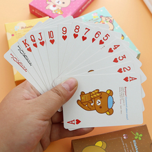 Kawaii Cartoon Bear Family Funny Playing Cards Poker Set.Board Game Fun Poker.Baralho Toy For Adult Party Game 4 Color