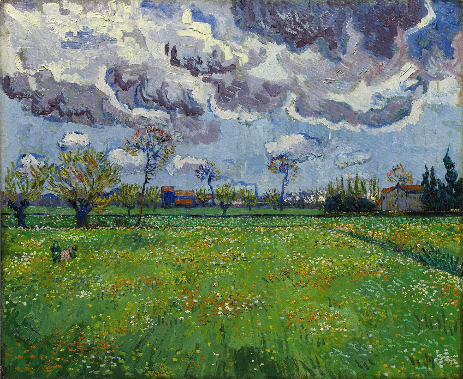 """文森特威廉梵高(Vincent Willem van Gogh,或译为梵高、""""梵谷"""",1853-1890),荷兰后印象派画家。出生于新教牧师家庭,是后印象主义的先驱,并深深地影响了二十世纪艺术,尤其是野兽派与表现主义。梵高早期受荷兰画家马蒂斯玛丽斯的影响以灰暗色系进行创作,直到他搬往巴黎与作为画商的弟弟同住,接触了当时震动了整个巴黎美术界的画家们,画风渐渐被印象派的画家影响,后来经过长期的野外写生,色调渐渐由灰暗色系变为明亮色系。1890年7月,梵高在麦田里中开枪自杀(亦有说他杀或误杀),年"""