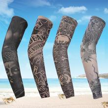 1 pc Man Tattoo Arm Warmers Fashion Punk UV Tamporary Tema Tatuagem Falsa Mangas Aquecedores Elasticity Tattoo Oversleeve