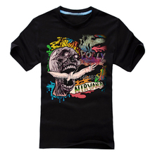 Punk Grunge Nirvana Rock Brand shirt 3D fitness Hardrock heavy Dark Metal 100%Cotton Skull skateboard camiseta ropa(China)