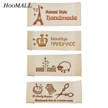 Hoomall 50PCs Washable Clothing Woven Labels Hand made Labels Garment Tags DIY Sewing Accessories Wholesale Main Label 65x20mm(China)