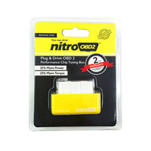 Hot Plug and Drive NitroOBD2 Performance Chip Tuning Box for Benzine Cars NitroOBD2 Chip Tuning Box car fuel saver(China)