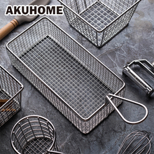 Stainless Steel Frying Basket Food Basket French Fries Fried Chicken Restaurant Kitchen Accessories(China)