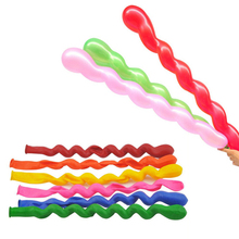 40pcs Screw Twisted Latex Balloon Spiral Thickening Long Balloon Bar KTV Party Supplies Strip Shape Balloon Inflatable Toys L25