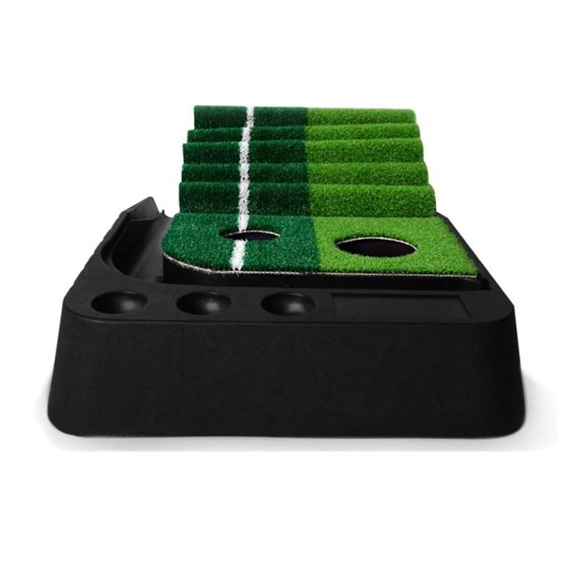 PGM indoor Golf Putter Practice Set Putting Green Trainer Green Mat Automatic Return Fairways Equipment Golf Training Aids (2)