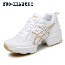 Low Top Fitness Breathability Teachers Latin Salsa Jazz Modern Dance Shoes Women Shoes Dancing Sneakers Ladies Shoes Modern(China)