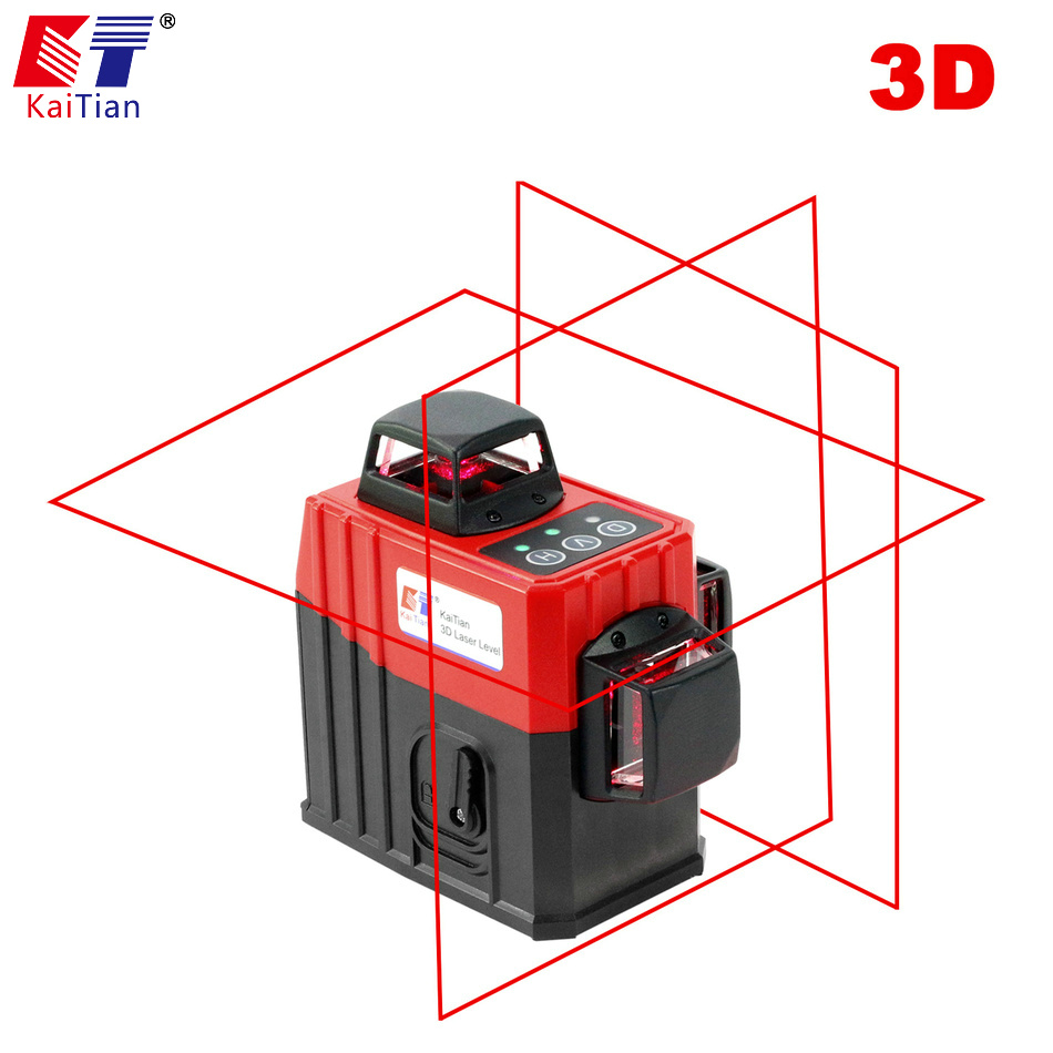 KaiTian 12Lines 3D5 Laser Level Self-Leveling 360 Horizontal And Vertical with Outdoor Tilt Function Cross Red Laser Beam Line 01