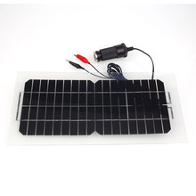 18V 5.5W Portable Solar Power Panel Car Battery Charger with USB Cable