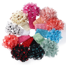 Hair Bands For Girls Hearts Artificial Flowers Peony Girl Kid Headband Fita De Cetim Flores #2548