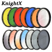Buy KnightX 24 color filter star uv nd sony nikon canon lens EOS 7D 6D 50D 60D 600D d5200 d3300 d3200 T6 camera 52mm 58mm 67mm for $2.53 in AliExpress store