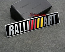 free shipping RALLIART aluminum 3D Badge Emblem car sticker good quality car emblem stick(China)