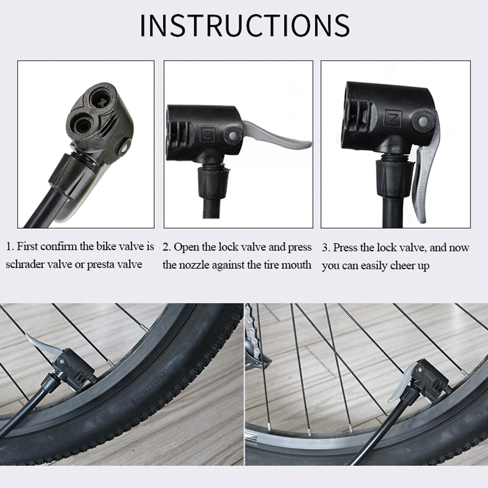 3x Extension Hoses Bicycle Bike Pump MTB Road Mountain Inflator Tube Pipe Valve
