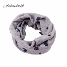 Autumn Winter Children Scarf Baby Bibs Baby Girl Boy Scarves O Ring Lovely Kids Collars Child Ring Scarf