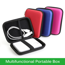 Newest Multifunctional Earphone Portable Box for 2.5inch HDD Storage Bag Hard Disk Drive Power Bank Pouch Cables Earbuds Boxes