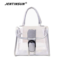 European And American Fashion Beach Bag Women Jelly Bag Transparent Women Shoulder Messenger Portable Waterproof Plastic Handbag