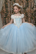 Blue Red Halloween  Girls Princess Costumes Elsa Anna Cosplay Movie dress birthday party carnival Costume For Kids