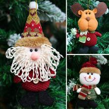 2017 Hot Sale Santa Claus Snow Man Reindeer Doll Christmas Decoration Xmas Tree Hanging Ornaments Pendant Kids Best Gift