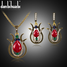 danbihuabi Vintage Dubai Vintage Wedding Jewelry Sets Necklace and Earrings For Women Wedding Unique African Beads Jewelry Set