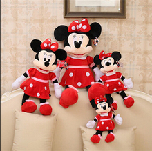 30cm New Arrival Stuffed Minnie Mouse Plush Toys Soft Animal Toys Dolls for Children's Gifts High Quality