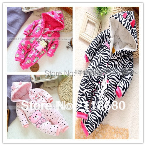 new 2014 autumn Winter romper baby clothing infant rompers baby girl jumpsuit kids cotton romper newborn cartoon animal overall<br>