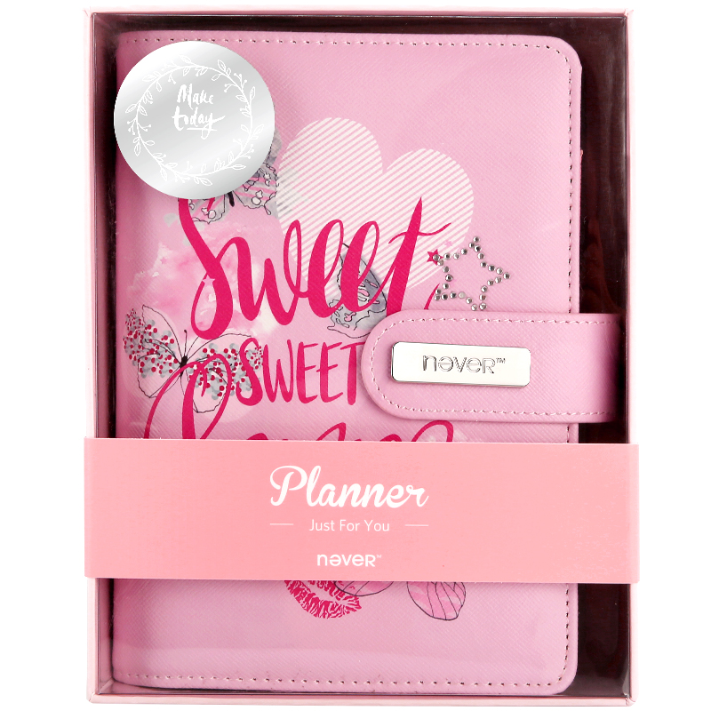 Never Sweet love Spiral notebook Planner A6 2018 organizer agenda diary Chancellory office and school supplies stationery store<br>