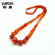 Yumten Onyx Choker Necklace Dames Ketting Gemstone Charm Short Section Exquisite Pendant Romantic Berloque Amber Natural Classic(China)