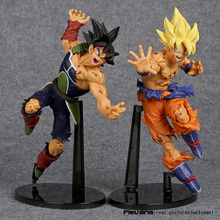 Dragon Ball ZOKEI 5 Son Gokou VS Barduck PVC Action Figures Collectible Model Toys 2pcs/set 22cm(China)
