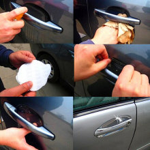 8PCS/LOT Transparent Strong Glue Car Door Handle Protection Film Car Exterior Automotive Accessories Easy Install High Quailty