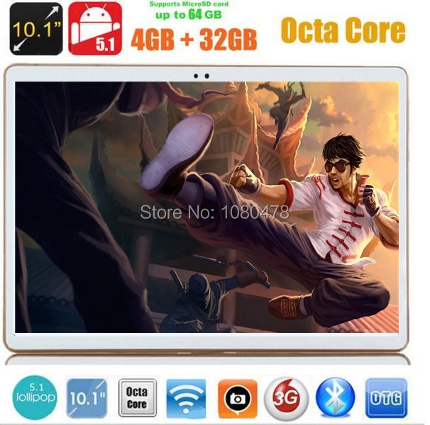 10 inch android tablet pc 3G WCDMA Octa Core 4GB RAM 32GB ROM Android 5.1 IPS GPS wifi 5.0MP 10.1 Phablet DHL Free(China (Mainland))