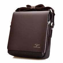 2017 new fashion design leather men Shoulder bags, men's casual business messenger bag,vintage crossbody ipad Laptop briefcase(China)