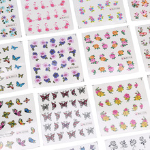 50 Sheets/Set 5*6.5cm Mixed Flower Water Transfer Nail Stickers Decals Art Tips Decoration Manicure Stickers Ongles Nail Make Up(China)