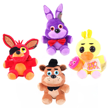 NEW 4pcs/set Five Nights At Freddy FNAF Fox Bear Bonnie Toys Plush Pendants Keychains Dolls Gift for Kids 15cm Peluche Anime(China)