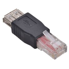 USB RJ45 Connector Adaptor Female to Male Ethernet(China)