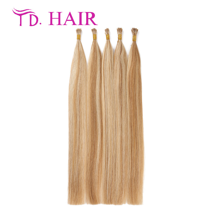 #27/613 Grade 7A i tip human hair extensions double drawn pre bonded stick hair 100% brazilian virgin hair weave on sale<br><br>Aliexpress