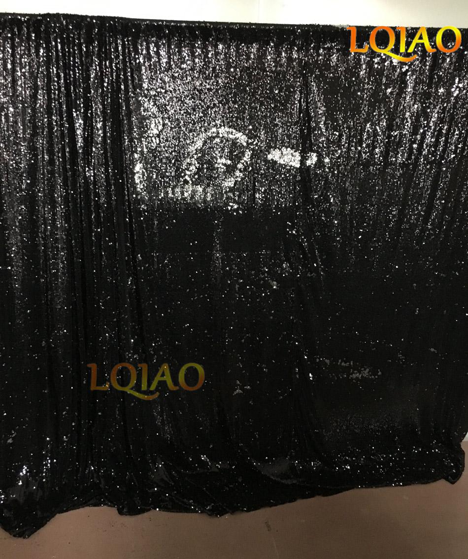 Black Reversible Sequin Fabric-003