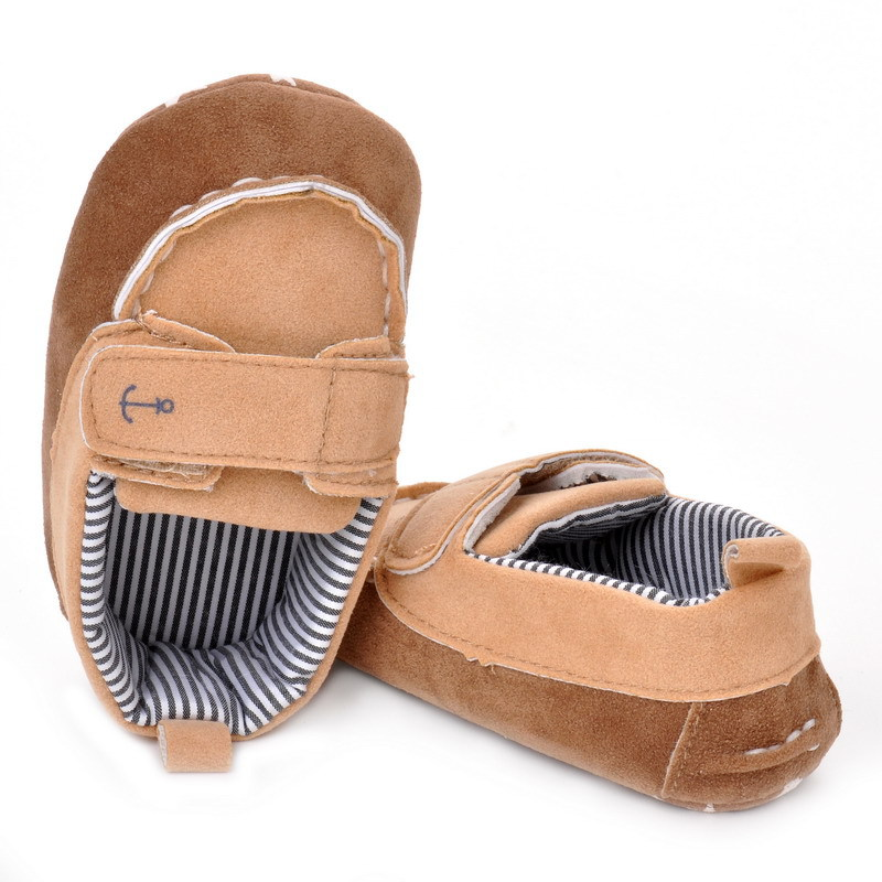 17 Fashion Newborn Baby Girl Boy Shoes Soft Sole Infantil Toddler Baby Boy Sneakers Blue Baby Mocassins Crib Peas Flock Shoes 27