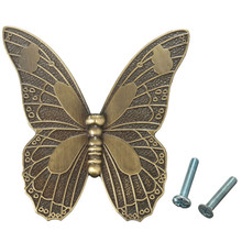 MTGATHER Zinc Alloy Vintage Bronze Butterfly Handle Cabinet Drawer Cupboard Wardrobe Door 2 Size S/L