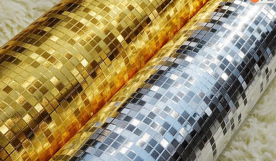 Modern 3d Embossed Golden Mosaic Wallpaper Gold Foil Silver Foil Tv Background Wallpaper Glitter Wallpaper Roll Egypt Wallpaper<br>