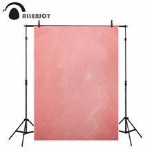 Allenjoy background for photos pink watercolor brick wall girl backdrop photo studio printed fabric fantasy props
