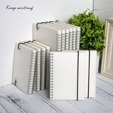 A5 A6 Spiral book coil Notebook To-Do Lined DOT Blank Grid Paper Journal Diary Sketchbook For School Supplies Stationery Store(China)
