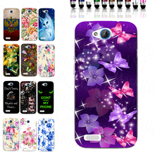 Bright Purple Flower Butterfly Print Case for ZTE Blade Q Lux 3G 4G A430 TPU Back Cover Bag Housing Shell