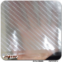 iTAATOP TSTY737-1 Silver Transparent Carbon Fiber Design Pattern 0.5m *2m Hydrographic Film PVA Water Transfer Printing Film(China)