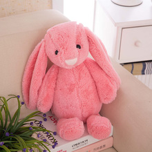 30cm HOT SALE Cute Solid color long ears Rabbit plush toy doll super soft child boy girl baby doll gift Colored optional(China)