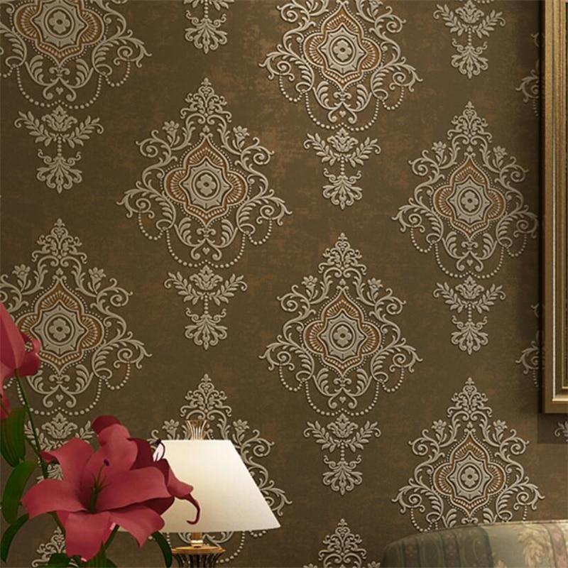Beibehang papel de parede  3d wallpaper 3d relief  luxury European classic embossed home interior wallpaper for walls 3 d <br>