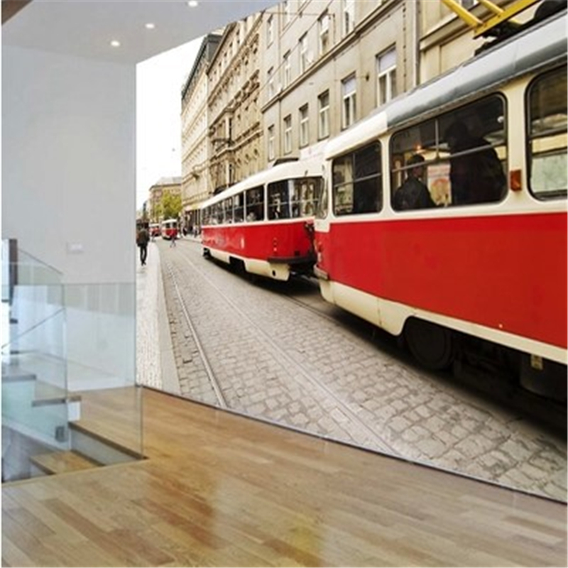 Custom 3d mural European modern minimalist living room bedroom personalized wallpaper England Street bus 3d photo wallpaper<br><br>Aliexpress