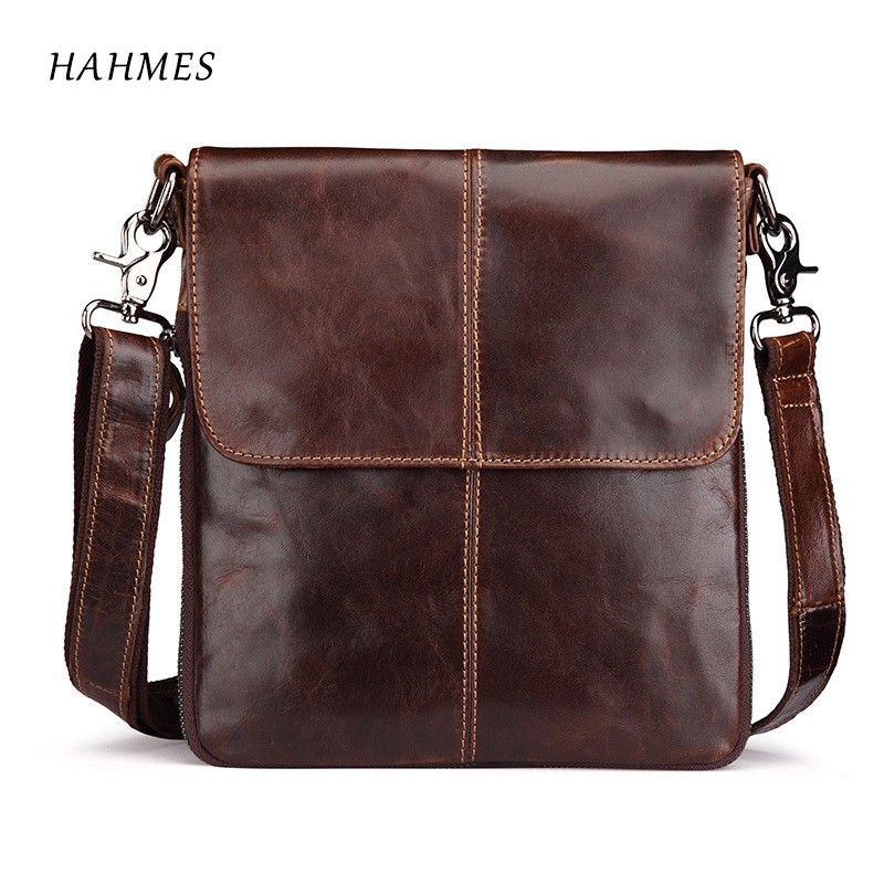The NEW Genuine Leather bag Male Bags Messenger casual tote  Mens travel bag leather clutch cross body bags shoulder Handbags <br>