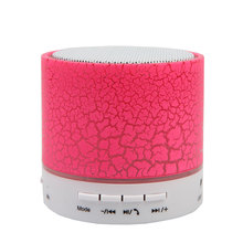 Hot Selling bluetooth speaker Smart Mini Portable Wireless Bluetooth music audio LED Light Stereo Hands free TF card  for phone