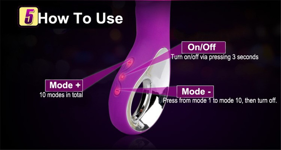 USB Charging Waterproof 10-Frequency Vibrating toys,dildo,Adult Sex Toys For woman,Clit Vibrator,Sex Products G-spot Clitoris 93 5