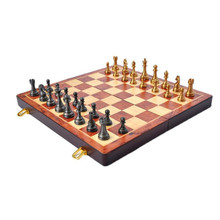 2016 new sales of high-grade environmental protection quality alloy pieces of solid wood chess manufacturers direct sales Chess