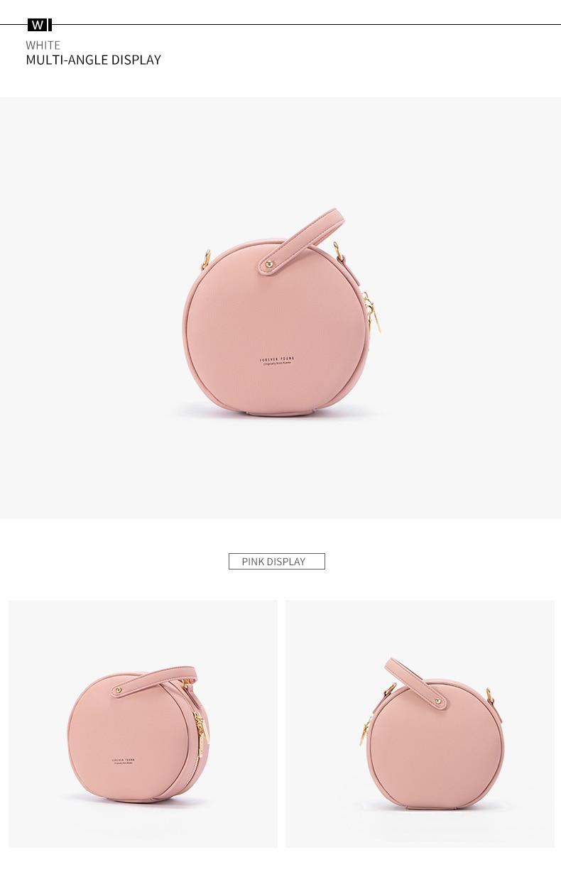 حقيبة بشكل دائري صغيرة الحجم بالوان متعددة 14